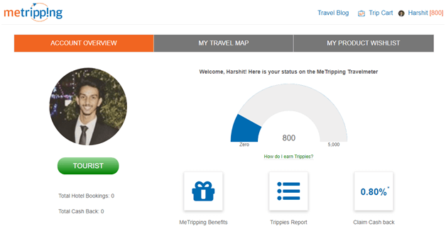 MeTripping Travel Profile