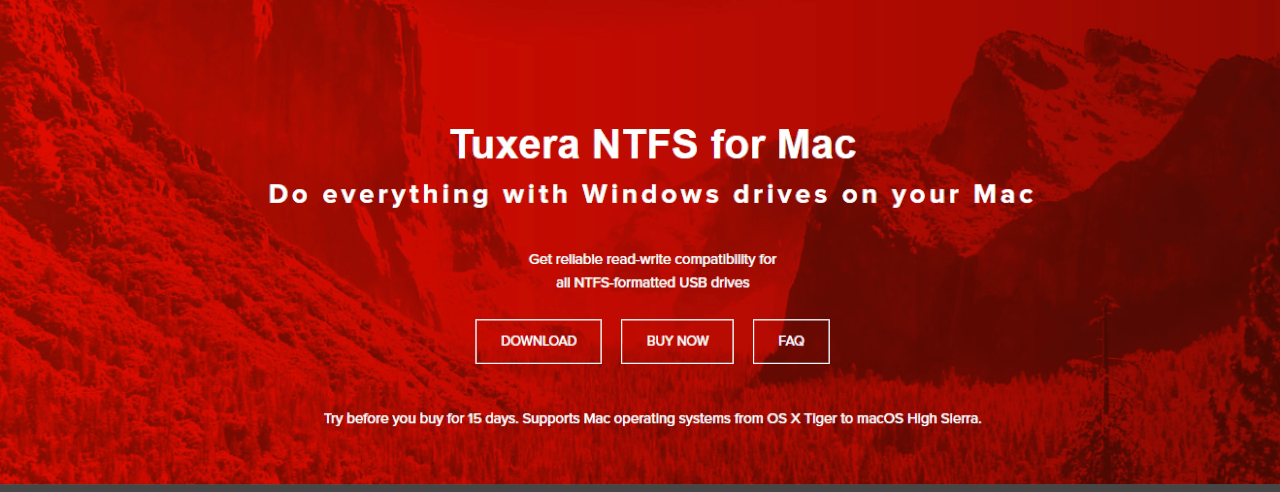 Tuxera NTFS for Mac, Tuxera NTFS for Mac 2018 with High Sierra